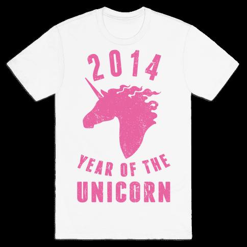 2014 Year of the Unicorn Mens T-Shirt