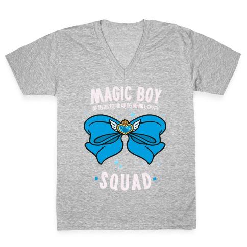 Magic Boy Squad (Blue) V-Neck Tee Shirt