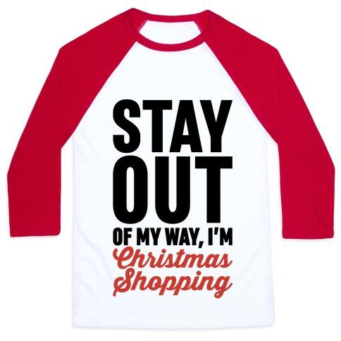 Christmas Shopping Baseball Tee