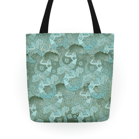 Siren and Lotus Tote