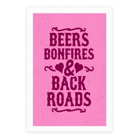 Beers, Bonfires & Backroads Poster