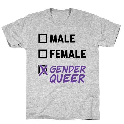 Genderqueer Checklist T-Shirt