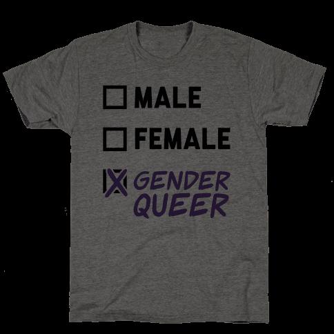 Genderqueer Checklist Mens T-Shirt