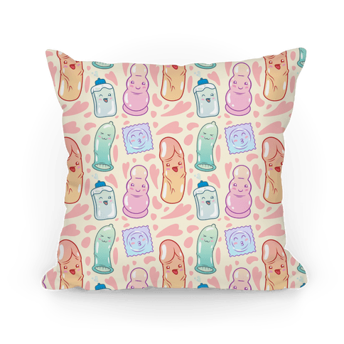 Cute Sex Toy Pattern Pillow