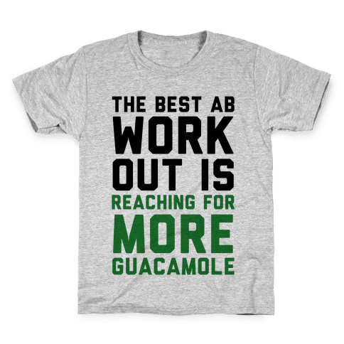 The Best Ab Work Out Kids T-Shirt