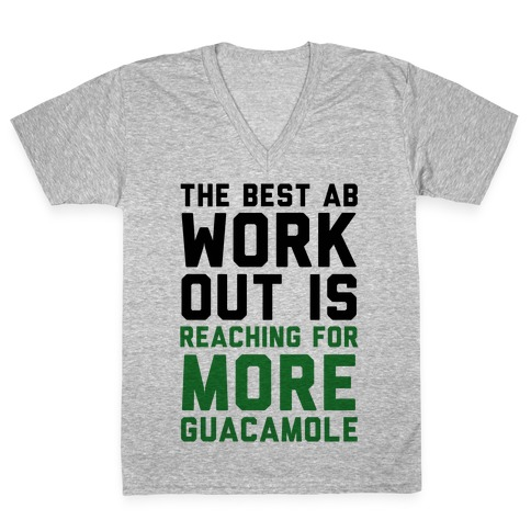 The Best Ab Work Out V-Neck Tee Shirt