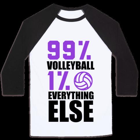 99% Volleyball Baseball Tee