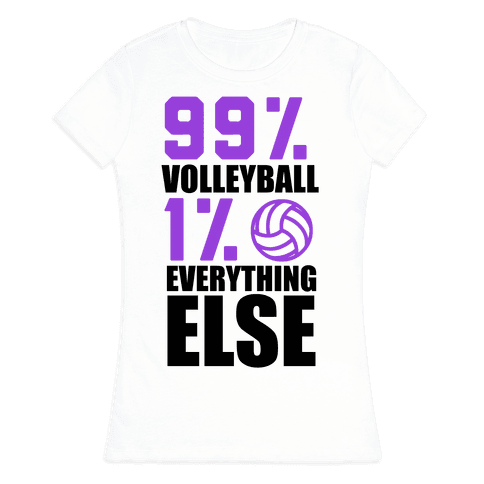 99% Volleyball Womens T-Shirt