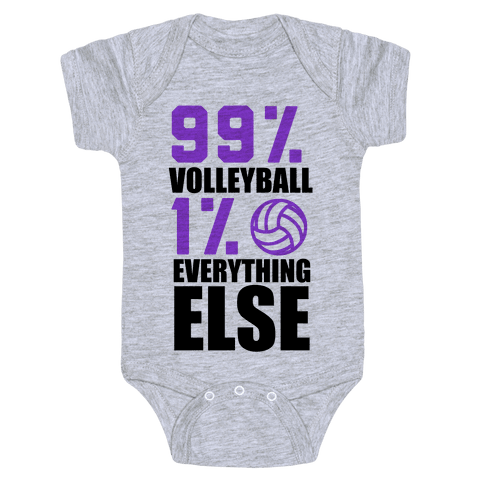 99% Volleyball Baby Onesy