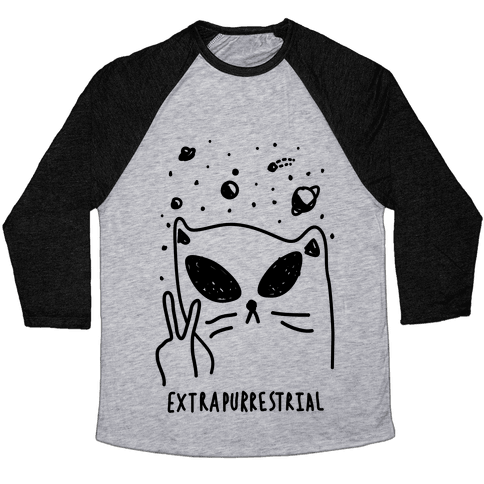 Extrapurrestrial Baseball Tee