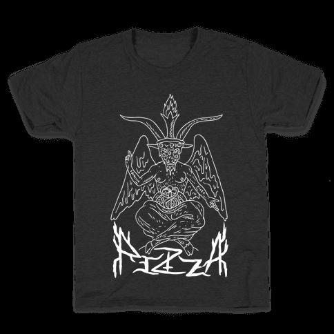 Pizza Baphomet Kids T-Shirt