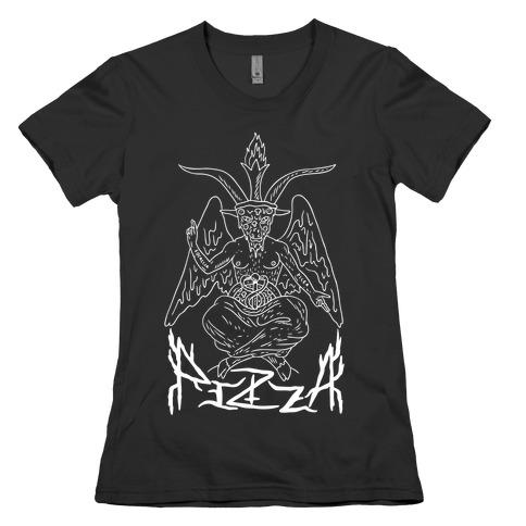 Pizza Baphomet Womens T-Shirt