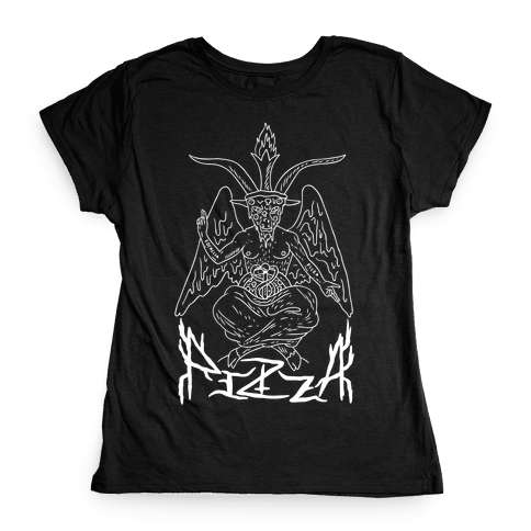 Pizza Baphomet Womens T-Shirt