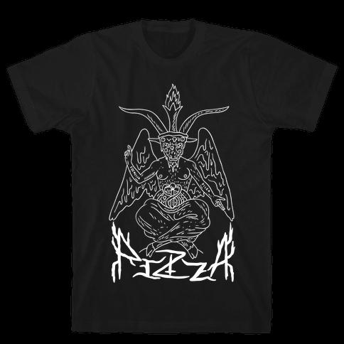 Pizza Baphomet Mens T-Shirt