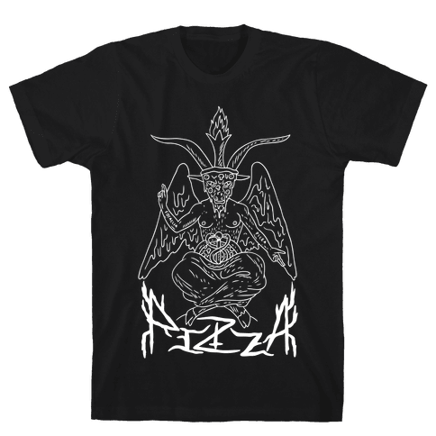 Pizza Baphomet Mens T-Shirt