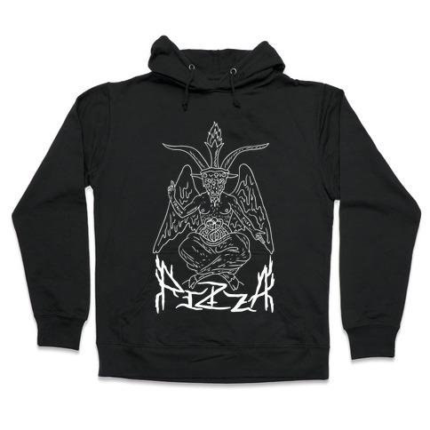 Pizza Baphomet Hooded Sweatshirt