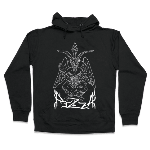 Pizza Baphomet Hooded Sweatshirt