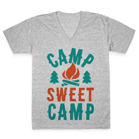 Camp Sweet Camp V-Neck Tee Shirt