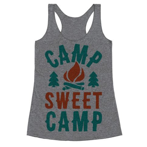 Camp Sweet Camp Racerback Tank Top