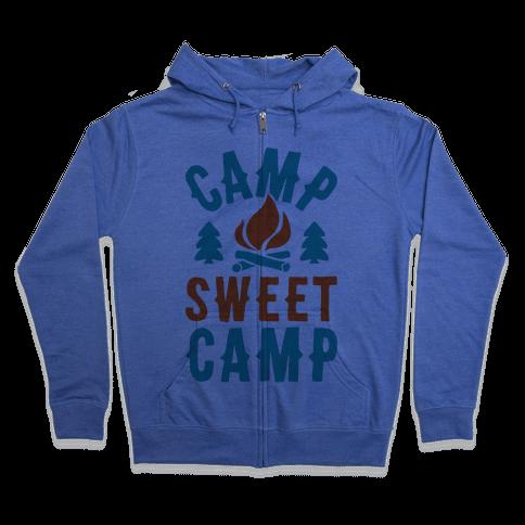 Camp Sweet Camp Zip Hoodie