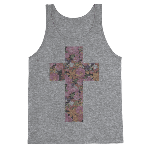 Vintage Floral Cross Tank Top