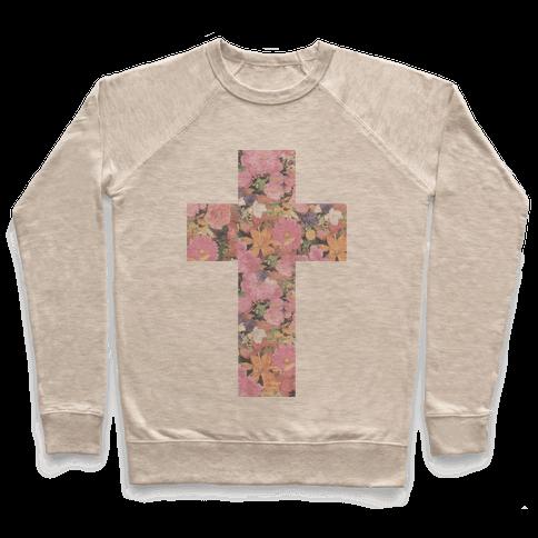Vintage Floral Cross Pullover