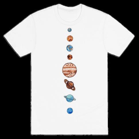 Solar System Mens T-Shirt