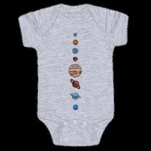 Solar System Baby Onesy