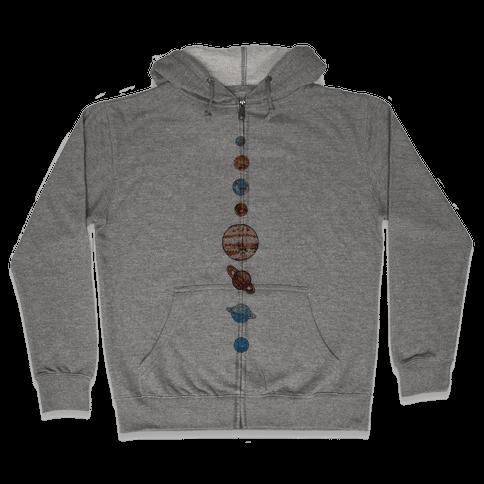 Solar System Zip Hoodie