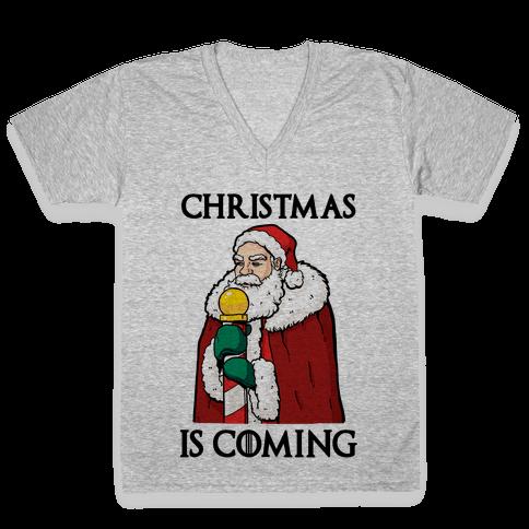 Christmas is Coming V-Neck Tee Shirt