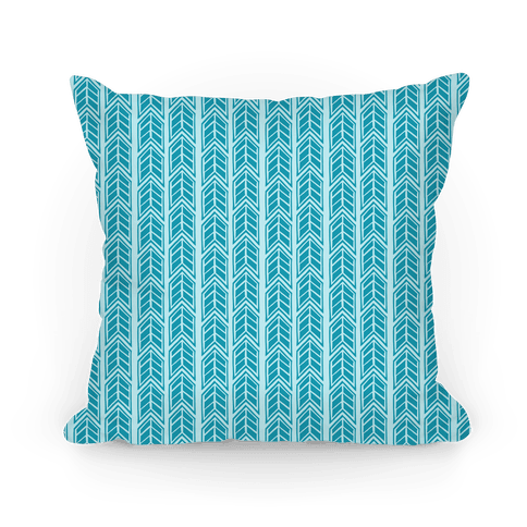 Blue Chevron Pattern Pillow