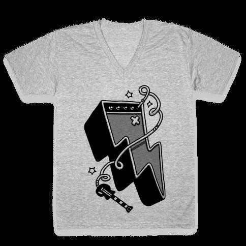 Lightning Amp V-Neck Tee Shirt