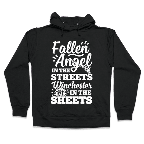 Fallen Angel In The Streets Winchester In The Sheets Hooded Sweatshirt
