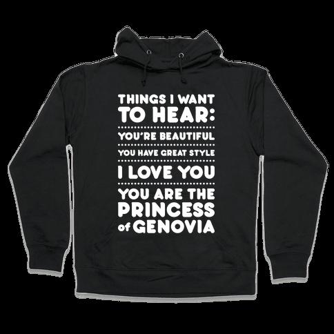 Things I Want To Hear Hooded Sweatshirt