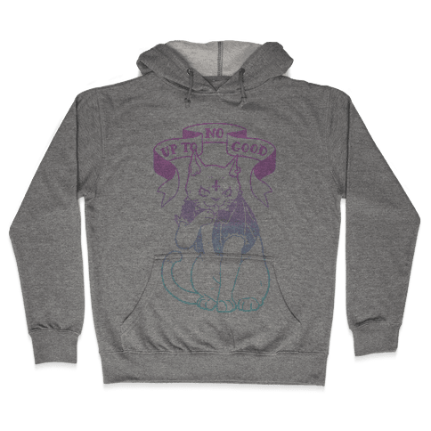 Up to No Good Pastel Goth Kitty Hooded Sweatshirt