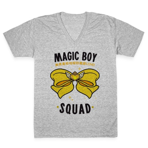 Magic Boy Squad (Yellow) V-Neck Tee Shirt