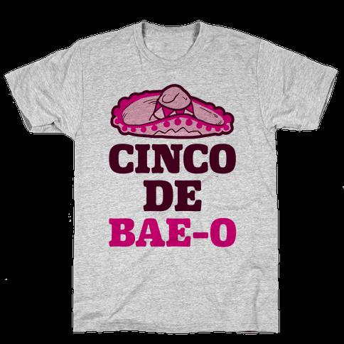 Cinco De Bae-o Mens T-Shirt