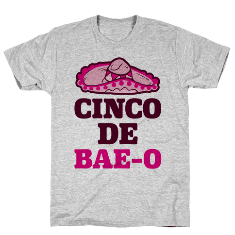 Cinco De Bae-o Mens T-Shirt