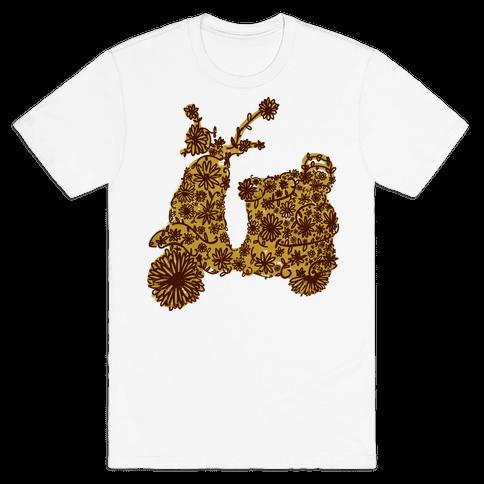 Floral Vespa Mens T-Shirt