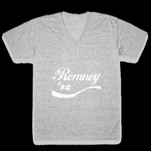 Romney Coke V-Neck Tee Shirt