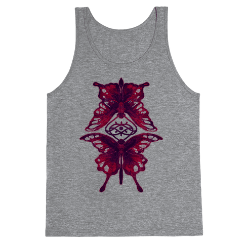 Crimson Butterflies Tank Top