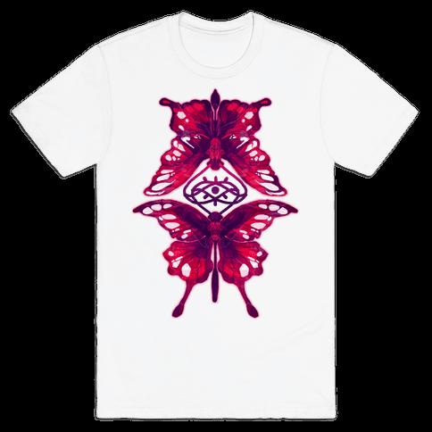 Crimson Butterflies Mens T-Shirt