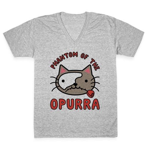Phantom of the Opurra V-Neck Tee Shirt