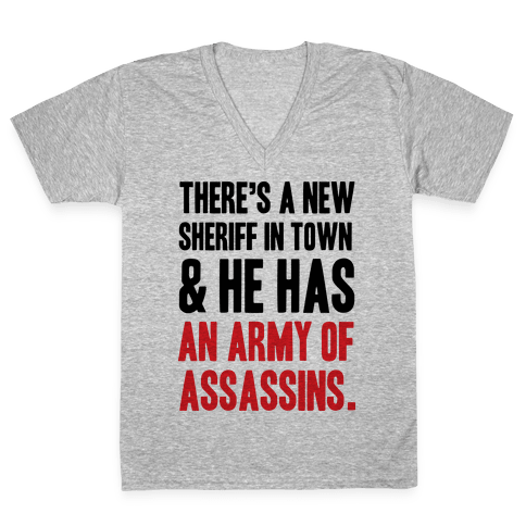New Sheriff In Town V-Neck Tee Shirt