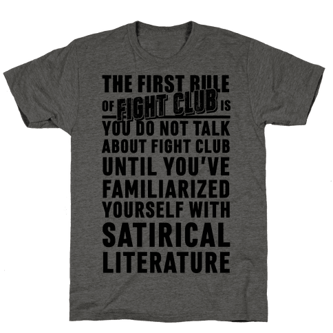 First Rule of Fight Club Satirical Literature