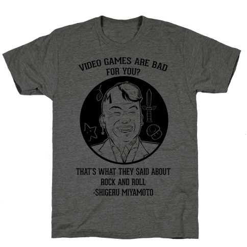 Video Games Are Bad For You? That's What They Said About Rock And Roll Mens T-Shirt