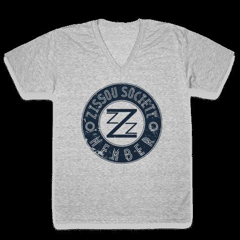 Zissou Society Member V-Neck Tee Shirt