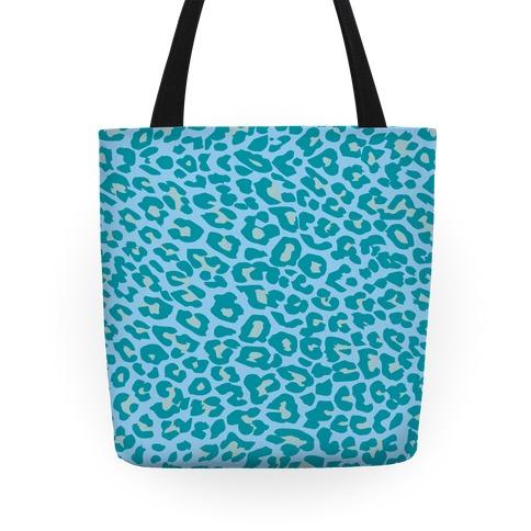 Blue Leopard Print Tote Tote