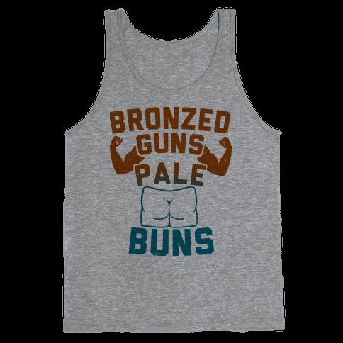 Bronzed Guns Pale Buns Tank Top