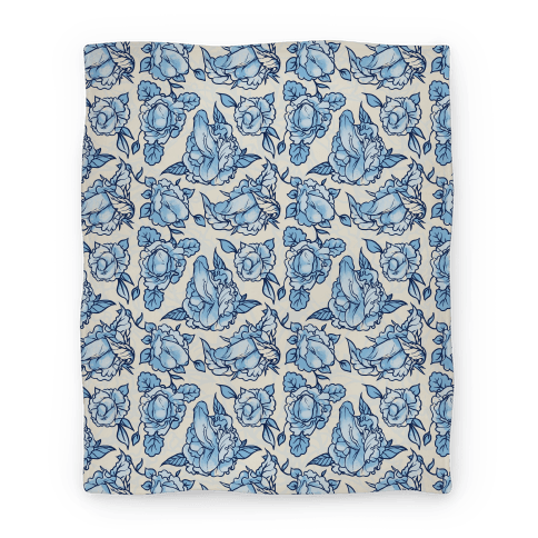 Floral Penis Pattern Blanket
